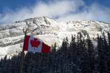 Oh Canada! Just before my first ever ski lesson.